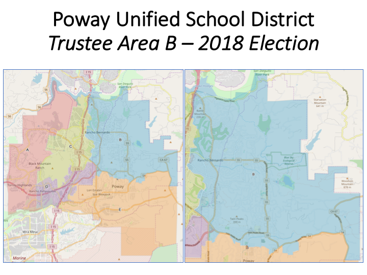 The Voting Map for Area B